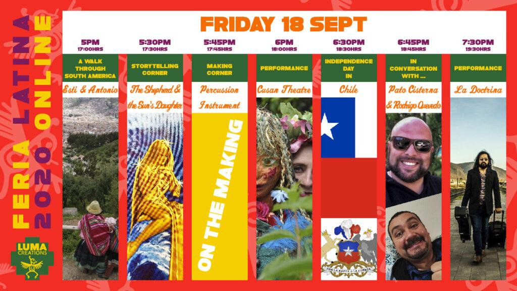 LUMA Feria Latina Friday Programme